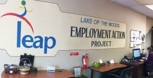 The LEAP office in Kenora, Ontario